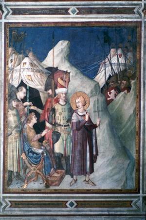 'St Martin Renounces his Weapons', 1312-1317.  Artist: Simone Martini