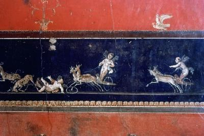 Roman mural, House of the Vettii, Pompeii, Italy. Artist: Unknown