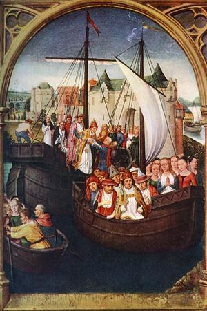 'The Departure of St Ursula from Basel', before 1489, (c1900-1920).Artist: Hans Memling