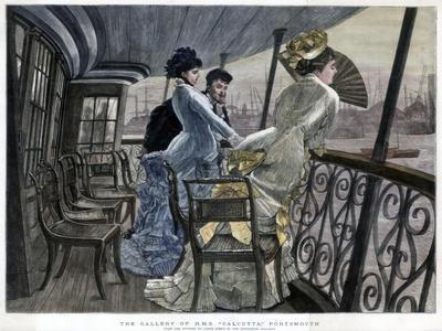 The Gallery of H M S Calcutta, Portsmouth, c1850-1900.Artist: James Tissot