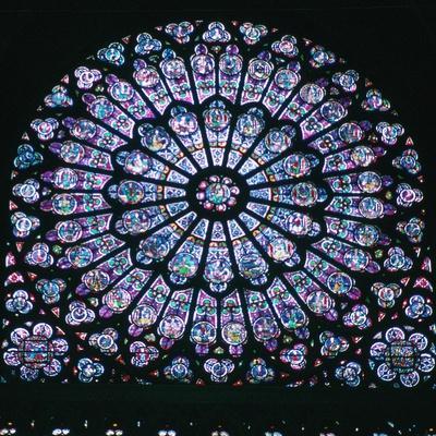 Rose window in Notre Dame, 14th century. Artist: Unknown