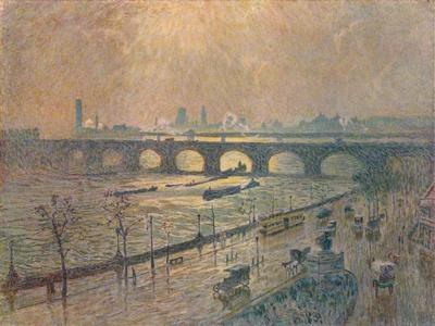 'Waterloo Bridge - A Rainy Day', c1917