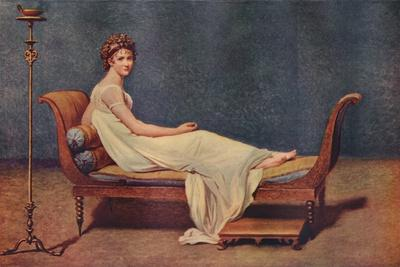 Portrait of Madame Recamier, 1800, (1911)