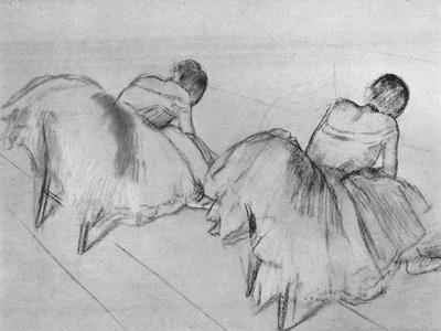 'Two Dancers Resting', c20th century