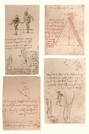 Four drawings illustrating the theory of the movements of the human figure, c1472-c1519 (1883)