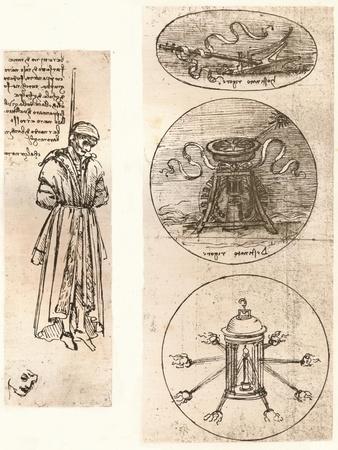 Drawings of Bernardo di Bandino Baroncelli hanged, and emblems, c1472-c1519 (1883)