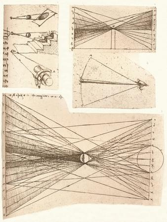 Four diagrams illustrating the theory of light and shade, c1472-c1519 (1883)