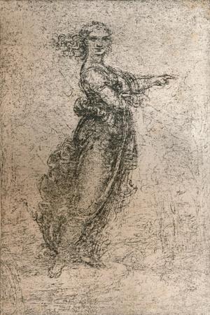 Charcoal drawing of a female figure, c1472-c1519 (1883)