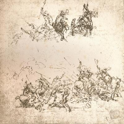 Study for the cartoon of the Battle of Anghiari, c1472-c1505 (1883)