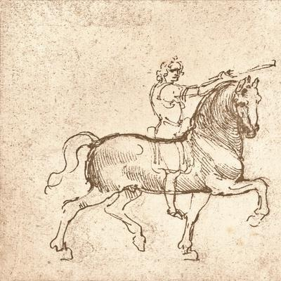 Drawing of a walking horse, c1472-c1519 (1883)
