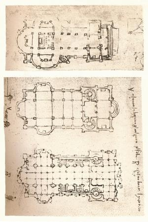 Two plans of churches, c1472-c1519 (1883)