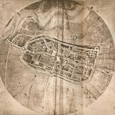 A map representing the town of Imola, Italy, c1472-c1519 (1883)