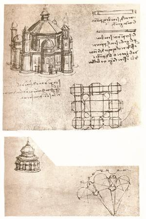 Two drawings of churches, c1472-c1519 (1883)