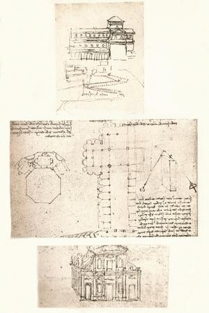 Three drawings of churches, c1472-c1519 (1883)