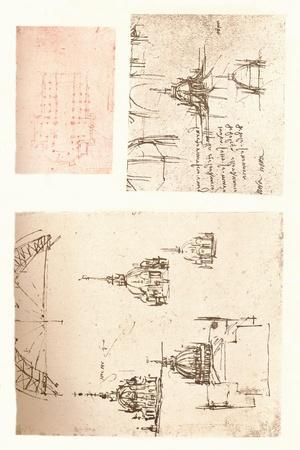 Three drawings of Milan Cathedral, c1472-c1519 (1883)