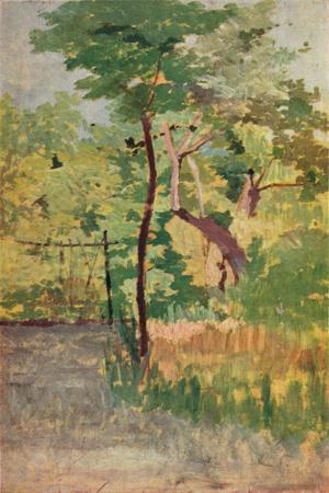 'Tree and Woodpath', c19th century