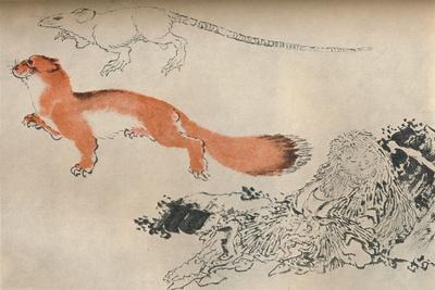 Drawing by Hokusai, c1780-1849, (1929)