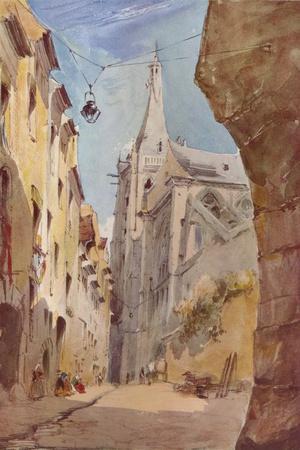 'The Church of St. Severin, Paris', 19th century