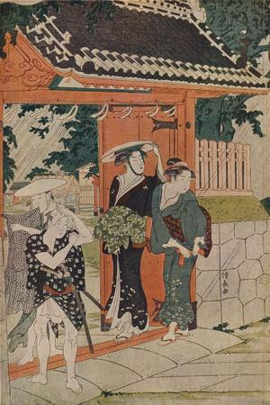 'A Sudden Shower at the Mimeguri Inari Shrine', 1787