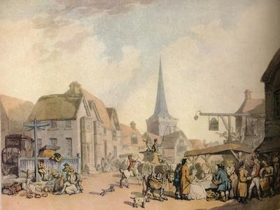 'An old English Village Scene', c18th century. (1941)