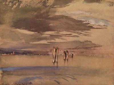 'A Grey Morning Near Venice', 19th century