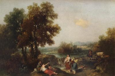 Landscape with Figures, 18th century, (1915)