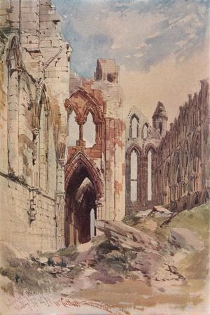 'Interior of Whitby Abbey', c1915