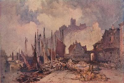 'Fish Market on the Quay, Folkestone Harbour', c1885
