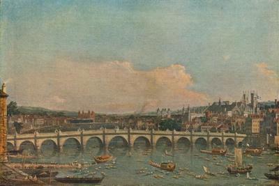 'Westminster Bridge', c1746