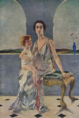 'The Countess of Rocksavage and Her Son', 1922 (1935)