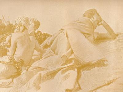 'Reclining Figures (David in Saul's Camp)', c1905