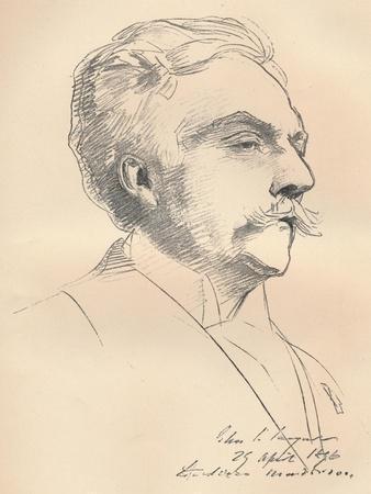 'Portrait-Sketch of M. Gabriel Faure', c1889