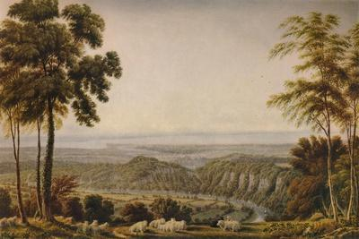 View from the Wyndd Cliff, near Chepstow - Morning', c1820, (1938)