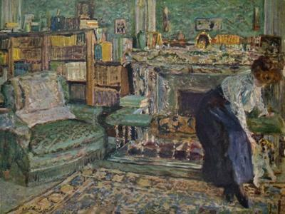 'Marguerite Chapin in Her Apartment with Her Dog', 1910