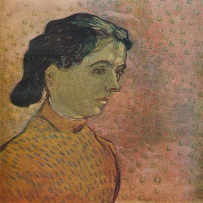 'Portrait De Jeune Fille Sur Fond Rose', 1888
