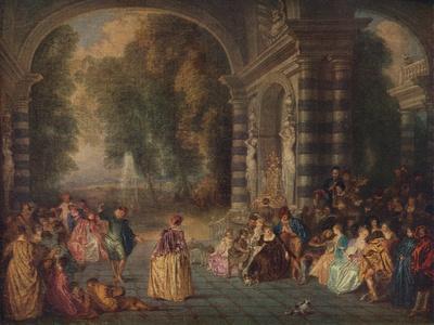 'Les Plaisirs du Bal (Le Bal Champetre)', c1717