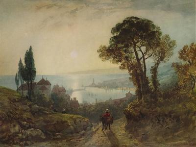 'View over a harbour', c1859, (1938)