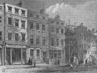 Wigmore Street, Westminster, London, 1820 (1878)
