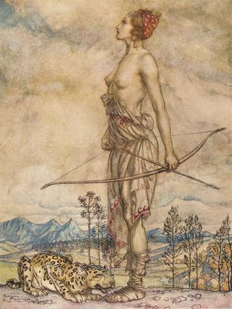 'The Huntress Diane', c1920