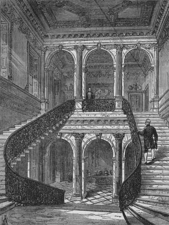 The grand staircase, Chesterfield House, Mayfair, Westminster, London, c1875 (1878)