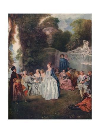 'A Fete Champetre', (Pastoral Gathering), 18th century, (1910)