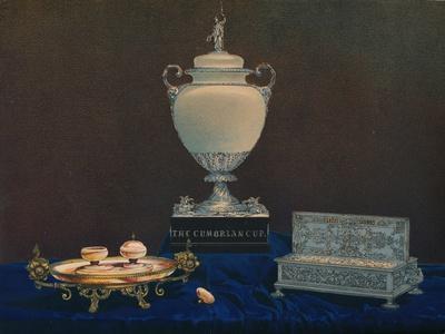 'Vase and Inkstands', 1863