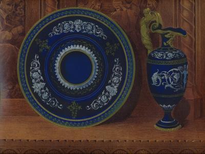 'Porcelain Ewer & Plateau', 1863