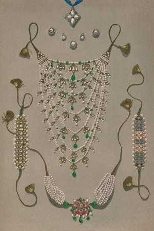 'Cross Pendant Brooches & Earrings, Suite of Indian Ornaments', 1863