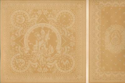 'Damask Linen by Mr C. Faber, Stuttgart and Messrs. Burre Bros. Dumferline', 1863