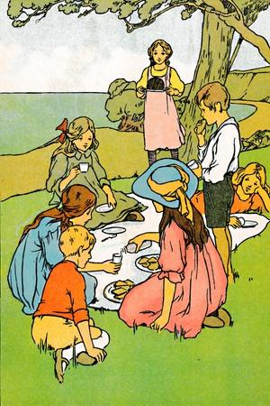 'A Christmas Dinner in New Zealand', 1912