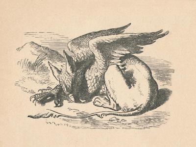 'The Gryphon asleep in the sun', 1889