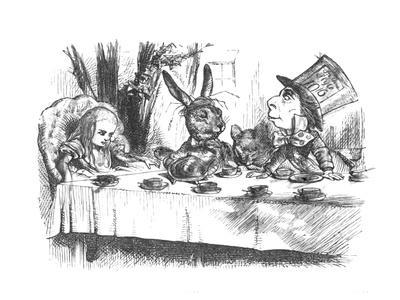 'Alice at the Mad Hatter's tea party', 1889