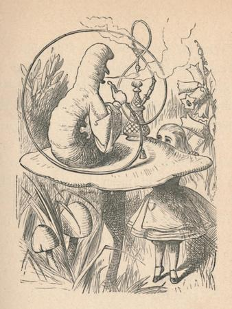 'Alice and the caterpillar', 1889