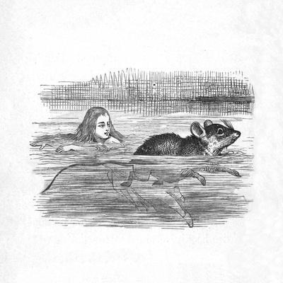 'Alice swimming with a mouse in a pool', 1889